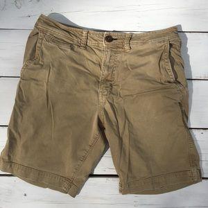 American Eagle Active Flex Khaki Shorts, Mens 32
